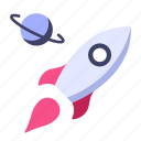 science, ship, space, spaceship, star, technology, universe icon