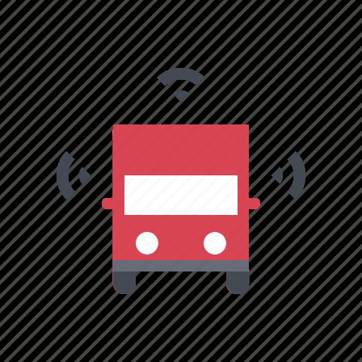autonomous, driverless, self driving, smart, transportation, truck icon