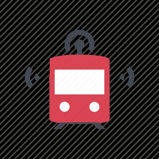 autonomous, connected, driverless, self driving, smart, subway, train icon