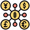 bitcoin, cryptocurrency, digital, exchange, money