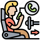 autonomous, car, driverless, technology, vehicle icon