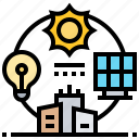 ecosystem, electric, energy, solar, sustainability icon