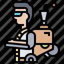 assistant, exoskeleton, rehabilitation, robotic, suit icon