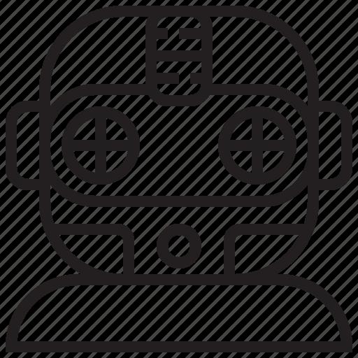 computer, electronic, future, machine, robot, robotic, technology icon