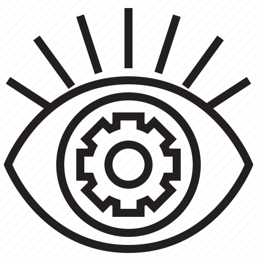 communication, connection, eye, future, robotic, setup, technology icon