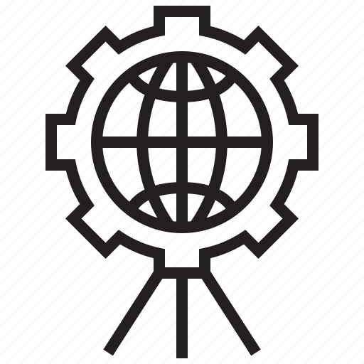 communication, connection, earth, future, network, robotic, technology icon