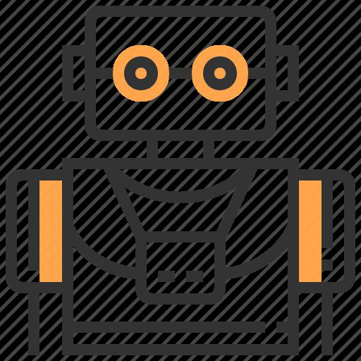 computer, device, future, hardware, robot, robotic, technology icon