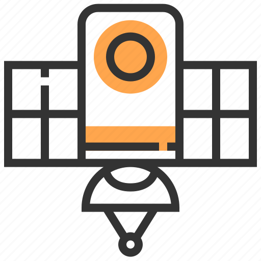 communication, connection, future, network, robotic, satellite, technology icon
