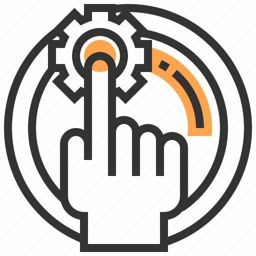 communication, finger, future, interaction, robotic, technology icon