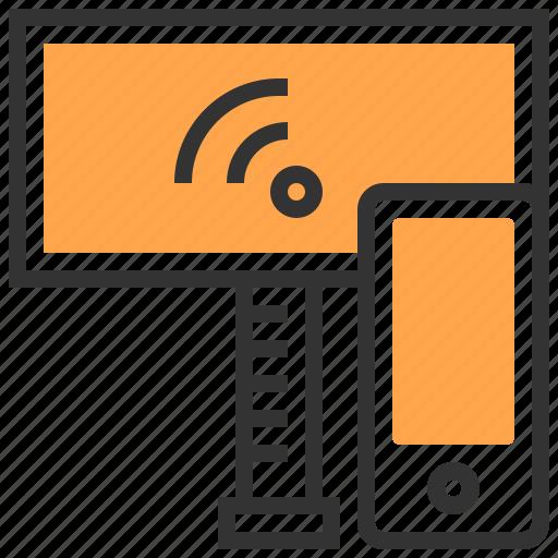 communication, electronic, future, interface, robotic, smartphone, technology icon