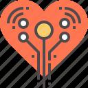 artificial, heart icon