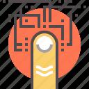 authentication, biometric icon