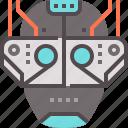 dystopian, future, machine icon