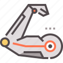 arm, cyber, prothesis icon