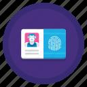 biometric, card, credit, id icon