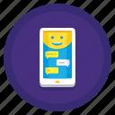 conversational, data, interfaces icon