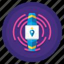 communication, internet, tracker, wearable icon