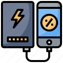 bank, battery, charger, electronics, power, recharge icon