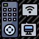 control, remote, technology, television, wireless icon
