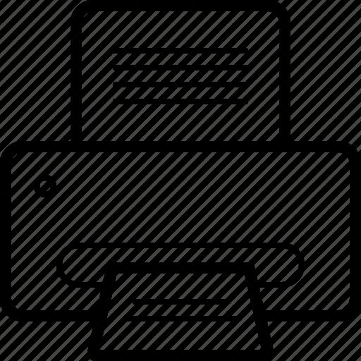 device, fax, print, printer icon