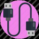 usb, cable, cord, data, plug, wire, computer