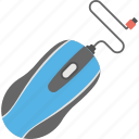 computer gadget, cord mouse, optical mouse, pointing device, wired mouse icon