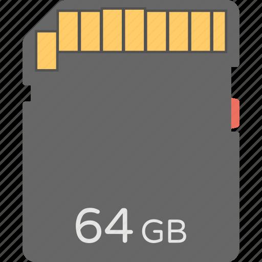 data storage, memory card, memory cartridge, memory chip, sd card icon