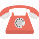 communication device, landline, phone, retro telephone, telephone icon