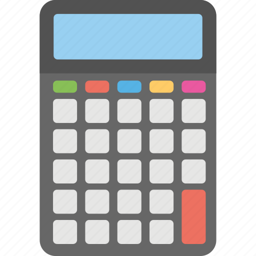 banking element, calculation, calculator, electronic gadget, office equipment icon