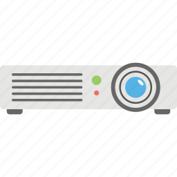 led projector, media gadget, multimedia, presenting device, projector icon