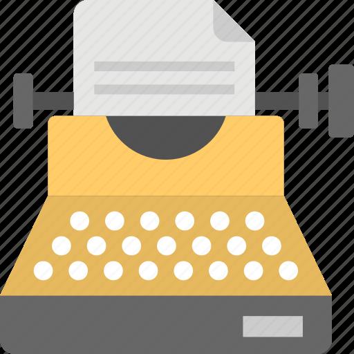 old typing machine, retro typing, typewriter, typing device, vintage typewriter icon