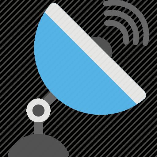 communication technology, parabolic dish, radio telescope, satellite antenna, satellite dish icon