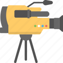 movie camera, movie maker, professional camera, shooting camera, video camera icon