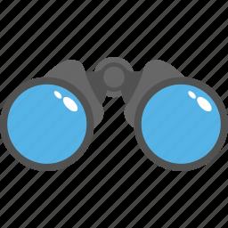 binoculars, eye glass, field glass, lorgnette, optical instrument, spyglass icon