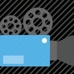 movie camera, movie maker, professional camera, shooting camera, video camera icon
