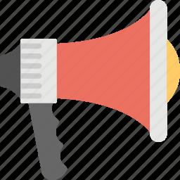 announcement tool, bullhorn, loud speaker, megaphone, mouthpiece, sound speaker icon