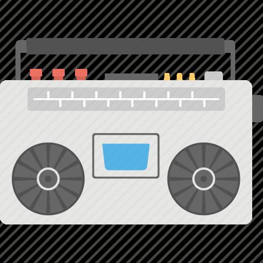 audio tape, radio tape, tape, tape deck, tape recorder icon