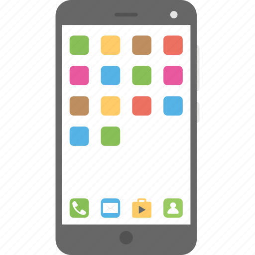 android phone, mobile, smartphone, touch screen icon