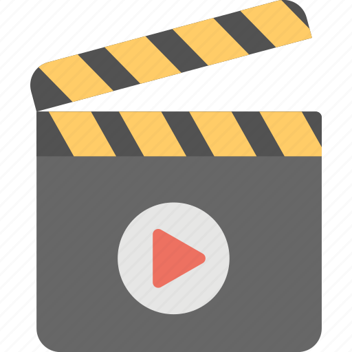 cinema equipment, clapboard, clapperboard, entertainment, player icon