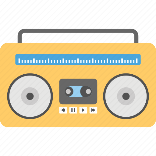 cassette player, cassette recorder, cassette tape, old tape recorder, tape recorder icon