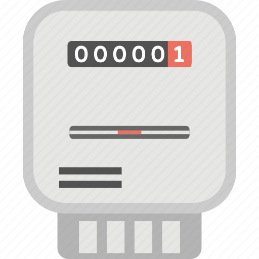 Energy Meter Icon : Domestic meter electric gas residential