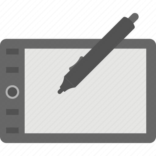 drawing tablet, pen, stylus, tablet, tablet computer icon