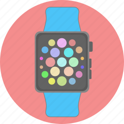 apple, clock, device, electronic, schedule, time, watch icon