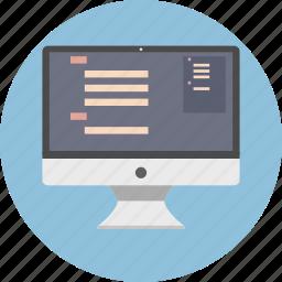computer, desktop, imac, monitor, pc, screen, technology icon