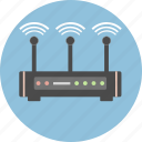 antenna, cloud, internet, network, router, wifi, wireless icon
