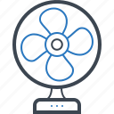 cooler, electric, fan, table icon