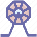 casino, circus, ferris, fun, gambling, wheel icon