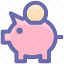 bank, coins, credit, money bank, piggy, piggy bank, saving icon
