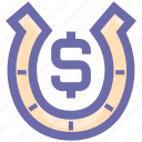 casino, charm, dollar, gambling, game, horseshoe, lucky icon