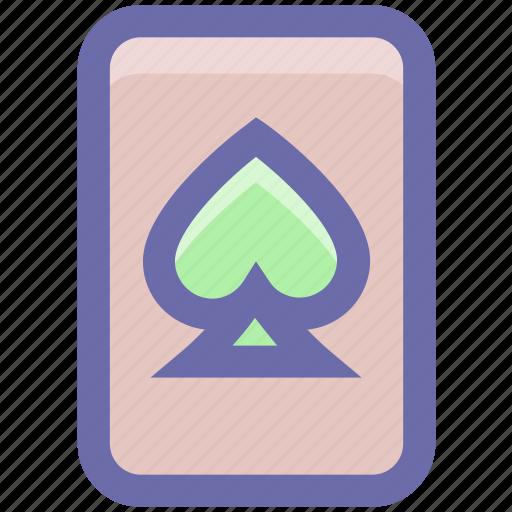 Casino card, play card, poker, poker card, poker element, poker spade, poker symbol icon - Download on Iconfinder